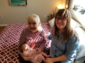 I introduced Sienna to Grandma Mohrman. It was so sweet to see how much she loved little Sienna.