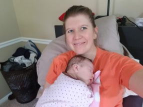 Sienna and me snuggles.